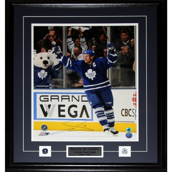 Mats Sundin Toronto Maple Leafs Signed 16x20-inch Frame