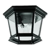 Livex Lighting Hamilton Black 3-light Outdoor Ceiling Mount