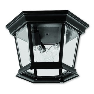Livex Lighting Hamilton Black 3-light Outdoor Ceiling Mount