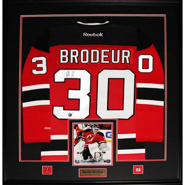 Martin Brodeur New Jersey Devils Signed Jersey Frame