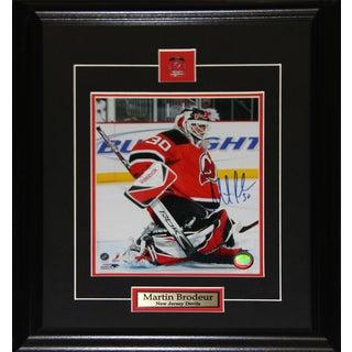 Martin Brodeur New Jersey Devils Signed 8x10-inch Frame