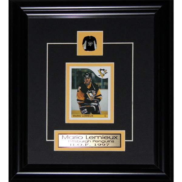 Mario Lemieux Pittsburgh Penguins Reproduction Rookie Card Frame