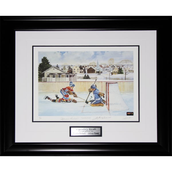 Legendary Rivals Signed By Maurice Richard and Johnny Bower Frame