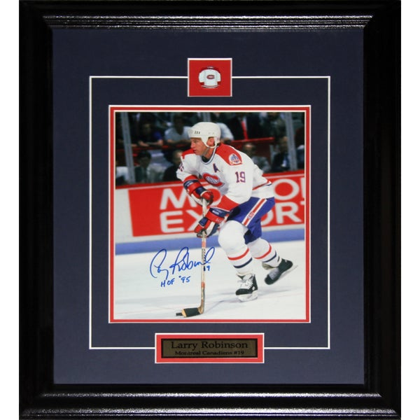 Larry Robinson Montreal Canadiens Signed 8x10-inch Frame