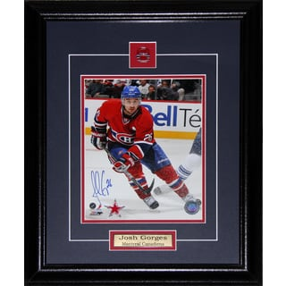 Josh Gorges Montreal Canadiens Signed 8x10-inch Frame