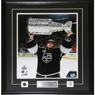 Jonathan Quick Los Angeles Kings Stanley Cup 16x20-inch Frame