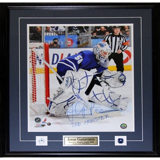 Jonas Gustavsson Toronto Maple Leafs Signed 16x20-inch Frame