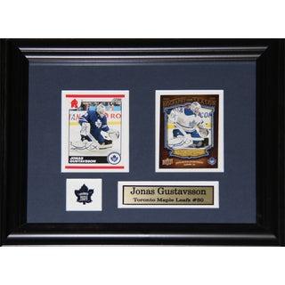 Jonas Gustavsson Toronto Maple Leafs 2-card Frame
