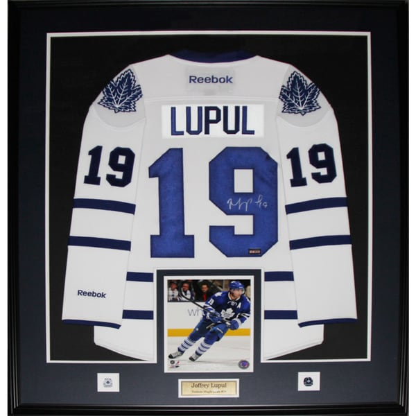 Joffrey Lupul Toronto Maple Leafs Signed White Jersey Frame
