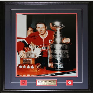 Jean Beliveau Montreal Canadiens Signed 16x20-inch Frame