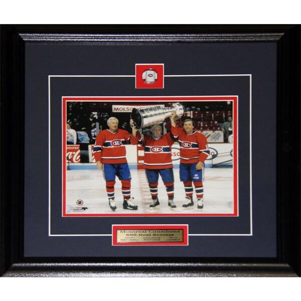 Jean Beliveau Maurice Richard Guy Lafleur Stanley Cup 8x10-inch Frame