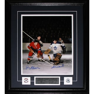 Jean Beliveau and Johnny Bower Signed 11x14 Frame