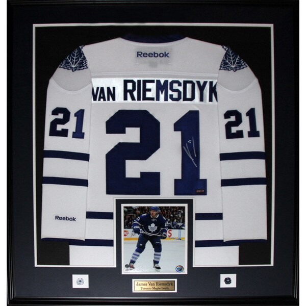 new products 66852 90b45 James Van Riemsdyk Toronto Maple Leafs Signed White Jersey Frame
