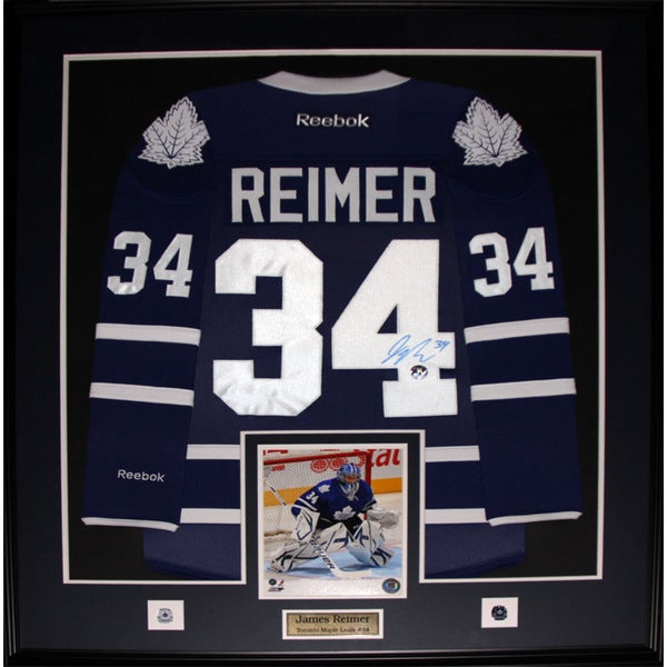 James Reimer Toronto Maple Leafs Signed Jersey Frame