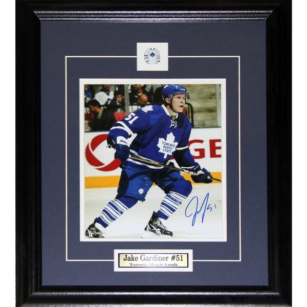 Jake Gardiner Toronto Maple Leafs Signed 8x10-inch Frame