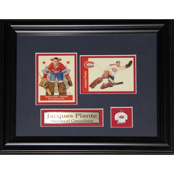 Jacques Plante Montreal Canadiens 2-card Frame