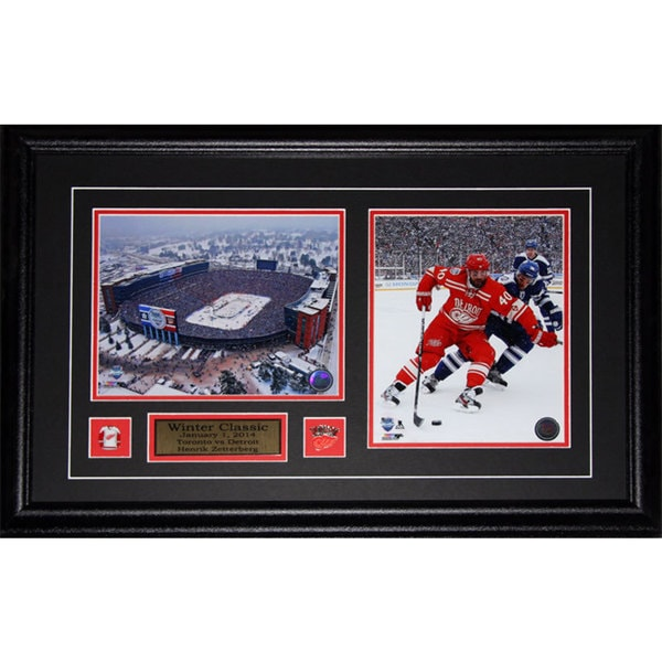 Henrik Zetterberg Detroit Red Wings 2014 Winter Classic 2-photo Frame