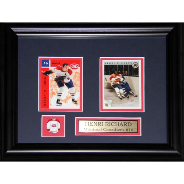 Henri Richard Montreal Canadiens 2-card Frame