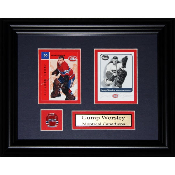 Gump Worsley Montreal Canadiens Nhl 2-card Frame