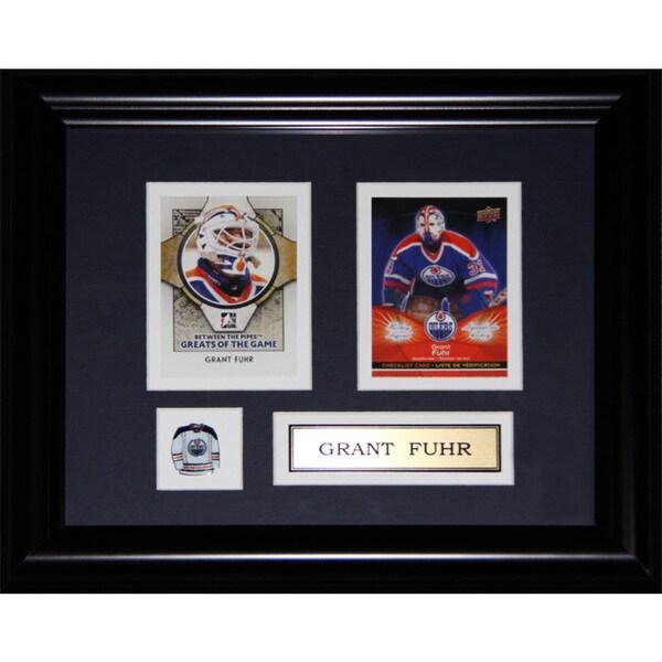 Grant Fuhr Edmonton Oilers 2-card Frame