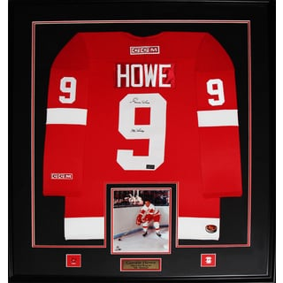 Gordie Howe Detroit Red Wings Signed Red Jersey Frame