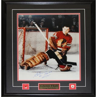Glenn Hall Chicago Blackhawks Signed 16x20-inch Frame