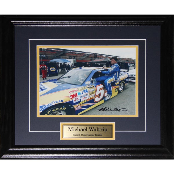 Michael Waltrip Nascar Signed 8x10-inch Frame