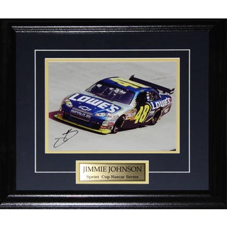 Jimmie Johnson Nascar Signed 8x10-inch Frame