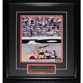 Jeff Gordon Nascar Signed 8x10-inch Frame