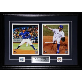R.a. Dickey Toronto Blue Jays Signed 2-photo Frame