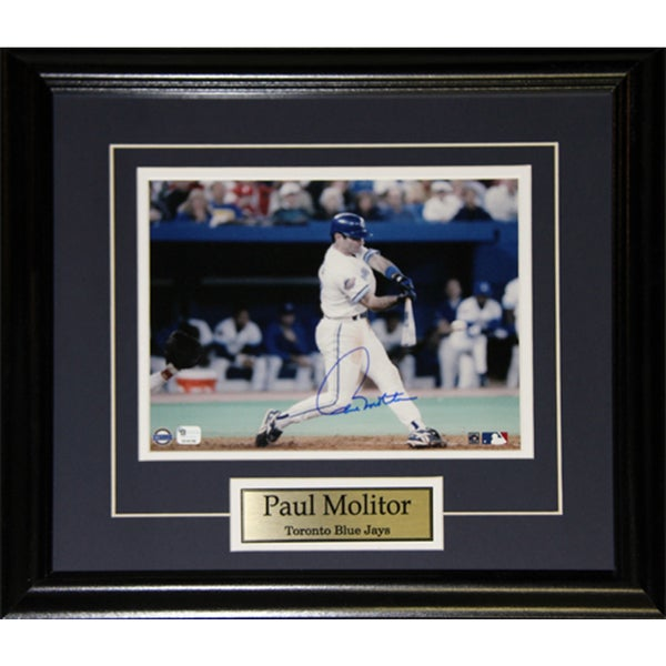 Paul Molitor Toronto Blue Jays Signed 8x10-inch Frame
