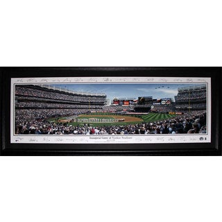 New York Yankee Stadium Inaugural Game Panorama Frame