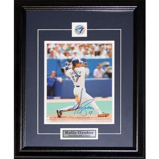 Kelly Gruber Toronto Blue Jays Signed 8x10-inch Frame