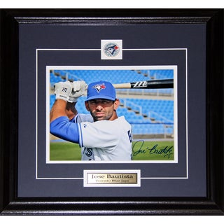 Jose Bautista Toronto Blue Jays Signed 8x10-inch Frame