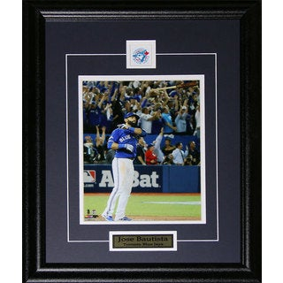 Jose Bautista Toronto Blue Jays Bat Flip Home Run 2015 Al Finals Color 8x10-inch Frame