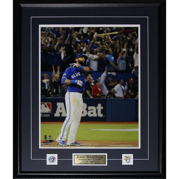 Jose Bautista Toronto Blue Jays Bat Flip Home Run 2015 Al Finals Color 16x20-inch Frame