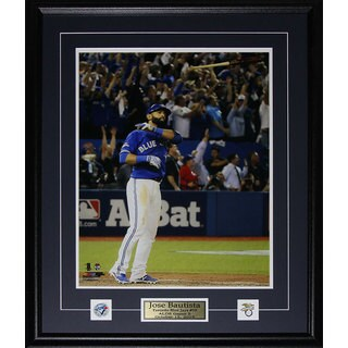 Jose Bautista Toronto Blue Jays Bat Flip Home Run 2015 Al Finals Color 16x20-inch Frame