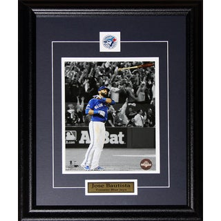 Jose Bautista Toronto Blue Jays Bat Flip Home Run 2015 Al Finals 8x10-inch Frame