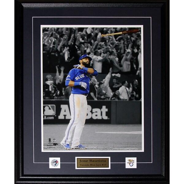 Jose Bautista Toronto Blue Jays Bat Flip Home Run 2015 Al Finals 16x20-inch Frame