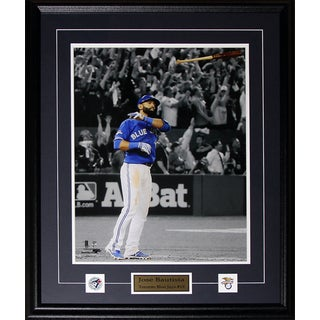 Jose Bautista Toronto Blue Jays Bat Flip Home Run 2015 Al Finals 16x20-inch Frame