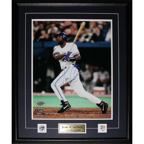 Joe Carter Toronto Blue Jays Signed 16x20-inch Frame