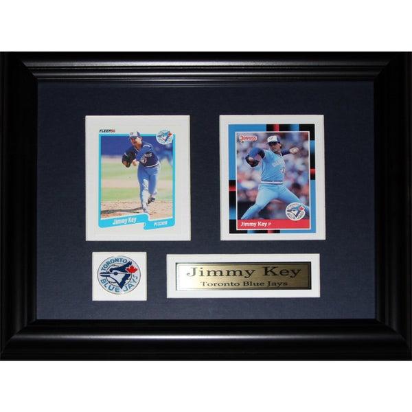 Jimmy Key Toronto Blue Jays 2-card Frame