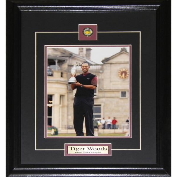 Tiger Wood Grand Slam Champion 8x10-inch Frame