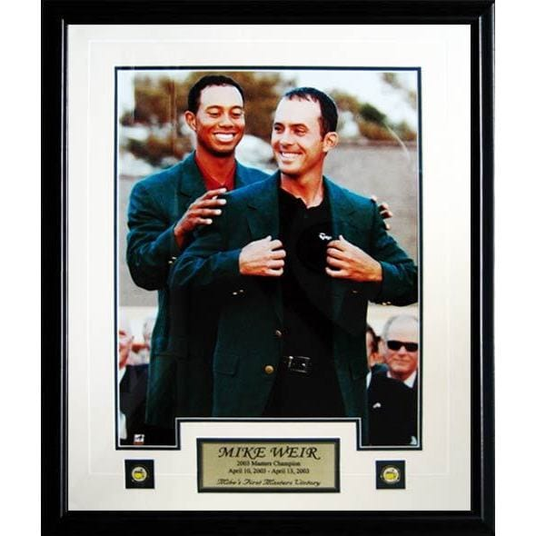 Mike Weir Tiger Woods Green Jacket 8x10-inch Frame
