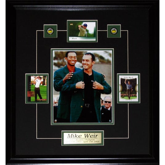 Mike Weir Tiger Woods Green Jacket 8x10-inch and Cards Frame