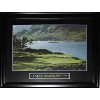 Goals Golf Course Motivational Large Frame