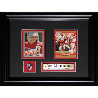 Joe Montana San Francisco 49ers 2-card Frame