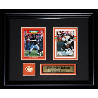 Jim Mcmahon Chicago Bears Nfl 2-card Frame