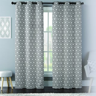 Mystique Woven Grommet Curtain Panel Pair