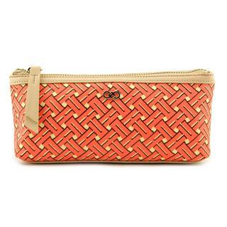 Cole Haan Orange Nylon Cosmetic Bag
